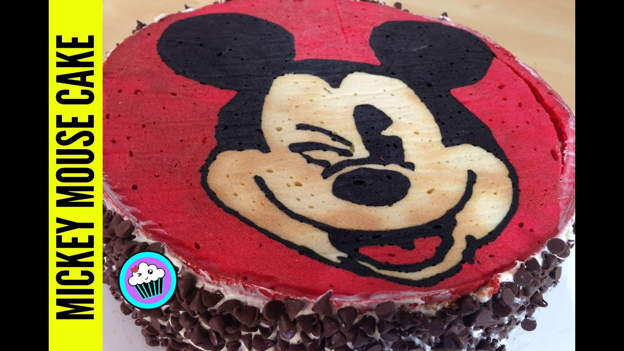 How To Make Mickey Mouse Cake Pinch Of Luck Youtube