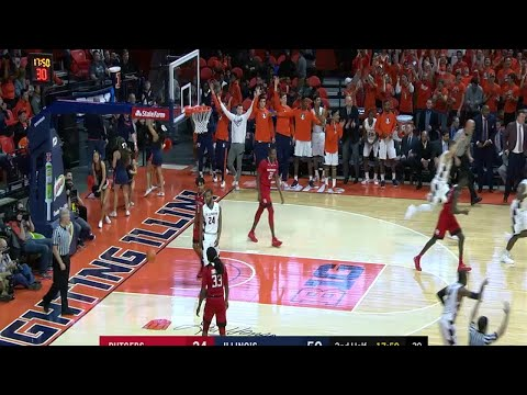 Rutgers at Illinois - Men's Basketball Highlights