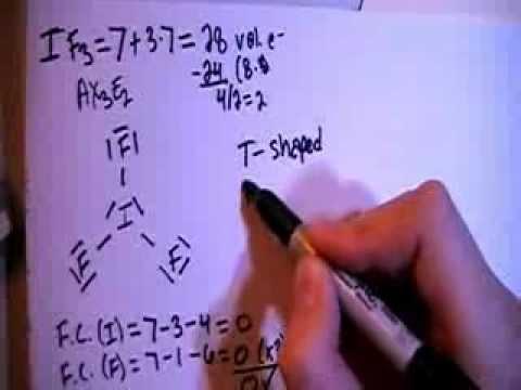 Iodine Trifluoride If3 Lewis Dot Structure Youtube