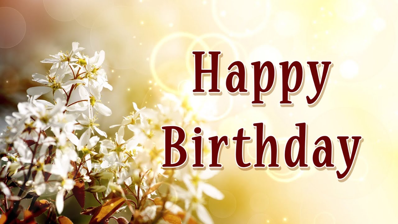 Happy Birthday Flower Bokeh Animation Motion Graphics Background