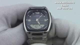 мужские японские наручные часы casio aw 81d 2a