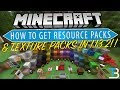 How To Download & Install Resource Packs/Texture Packs in Minecraft 1.13.2