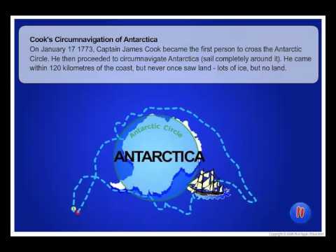 Captain Cook Circumnavigates Antarctica