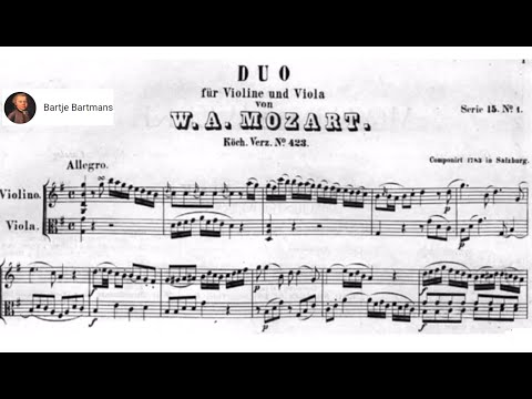 Mozart - Duo for Violin and Viola No. 1, K.423 (1783)