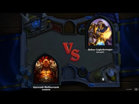 Hearthstone: Heroes of Warcraft - Paladin vs. Warrior