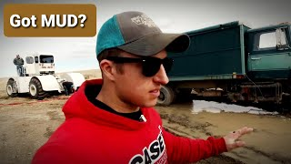 BIG BUD Yanking TRUCKS through the MUD!|Grain Cleaning 2020
