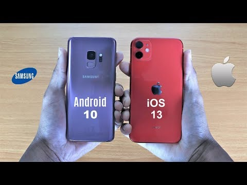 Galaxy S9 Android 10 Vs IPhone 11 Speed Test
