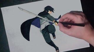 SPEED DRAWING WANDERING SHINOBI SASUKE UCHIHA