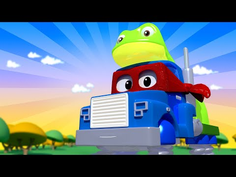 The frog truck  - Carl the Super Truck - Car City ! Cars and