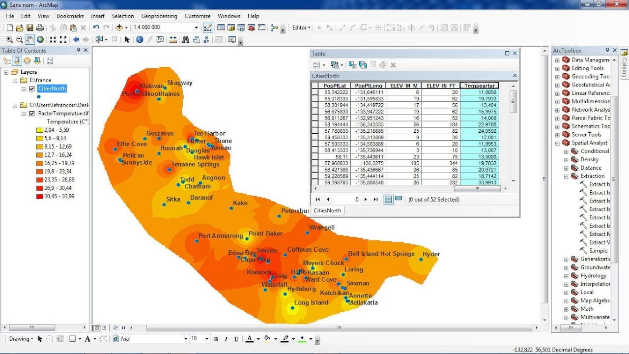 Extract Raster Values to Shapefile in ArcGis