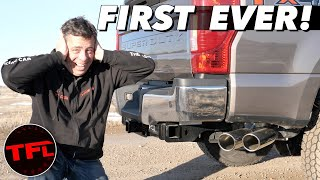 Too Loud or Not Enough? World's First 7.3L Godzilla V8 Cat Back Exhaust Mod!