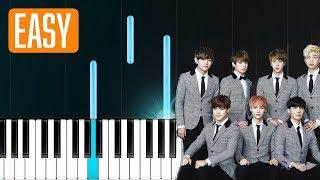 """BTS - """"DNA"""" 100% EASY PIANO TUTORIAL"""