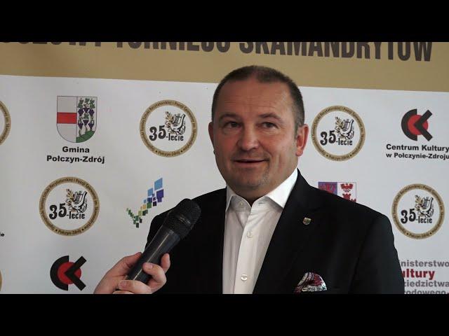 Rozmowa z Burmistrzem Sebastianem Witkiem Turniej Skamandrytów