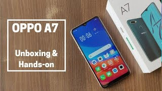 OPPO A7 Unboxing And Features Overview in Hindi