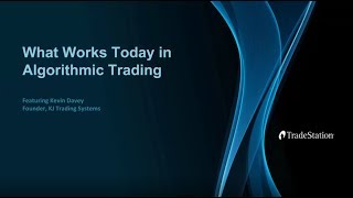 What Works Today in Algorithmic Trading