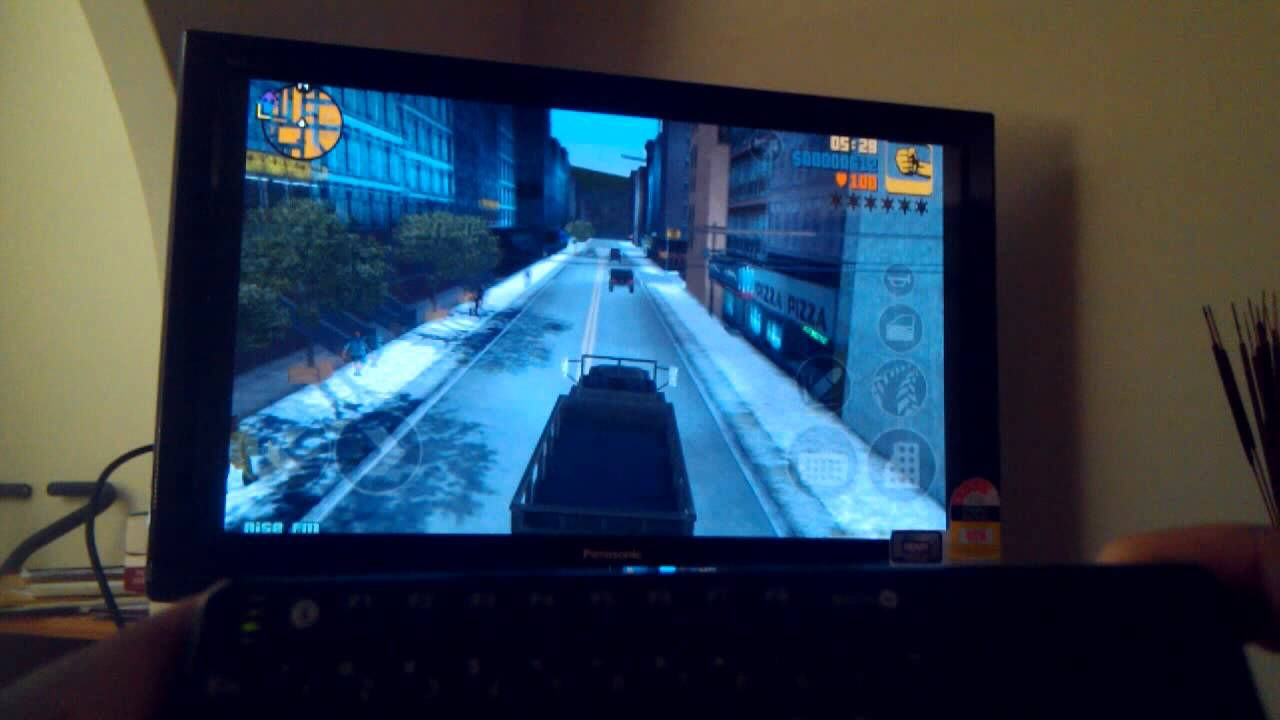 GTA 3 on the Samsung Galaxy Note with HDMI to TV and a bluetooth keyboard!! [ColdFustion]