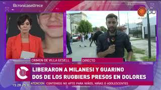Liberaron a Guarino y Milanesi, dos de los rugbiers acusados de la muerte de Fernando