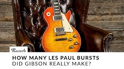 How Many Les Paul Bursts Did Gibson Really Make?   Reverb