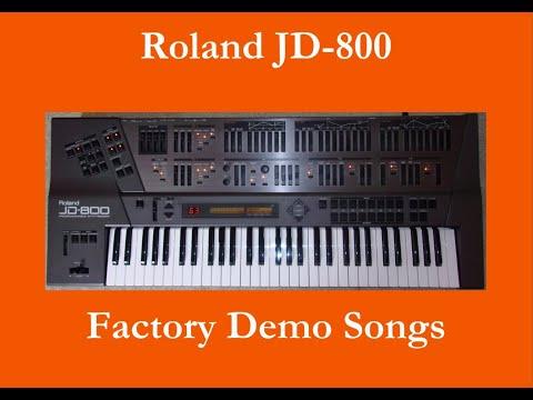 Roland JD-800 - Démo interne - Factory Demo Song - Single Mode
