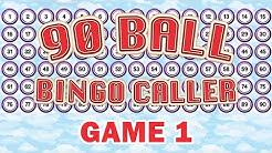 90 Ball Bingo Caller Game - Game 1