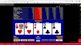 High Stakes Video Poker, Big Jackpot Saves The Session