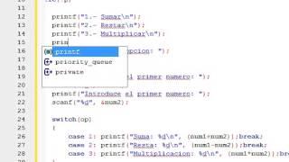 Ejercicios de programación en C - Menú con switch case - Tutorial programación C
