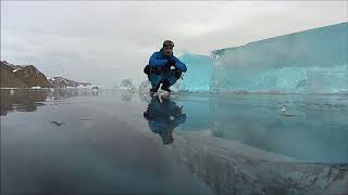 How thick is the ice on Lake Baikal