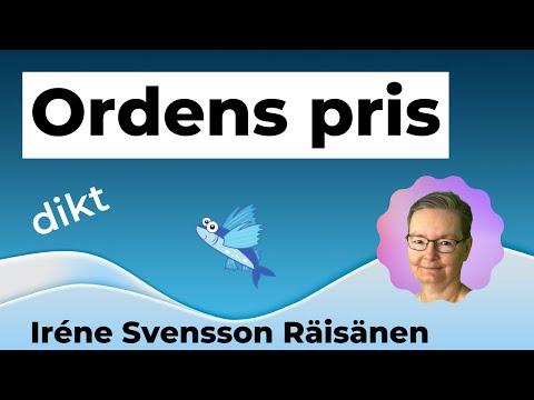 ORDENS PRIS diktvideo av poeten Iréne Svensson Räisänen