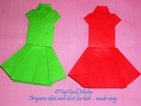 paper skirt | origami skirt | origami skirt easy | origami top ... | 360x480