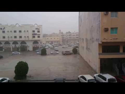Today's Rain in the morning in Alkhobar  KSA 16 feb 2017