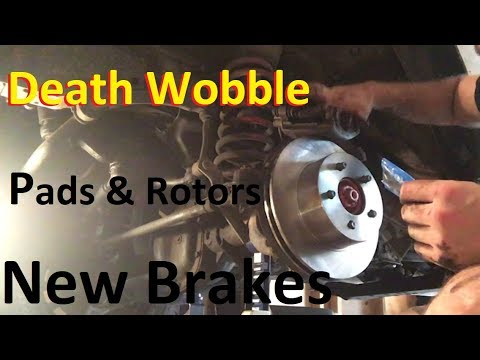 Jeep Xj Brake Pad Rotor Replacement Death Wobble Fix Youtube