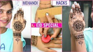Easy HACKS for EID Special Mehendi/Henna .. | #Anaysa #DIYQueen
