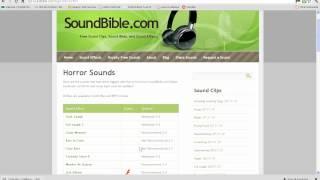 mp3.com and soundbible tutorial
