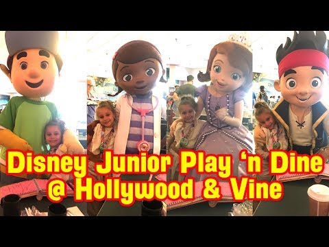 Disney jr. Play & Dine at Hollywood & Vine - Our 2nd Trip to WDW - Day #6 | Part 3 - July. 10, 2017