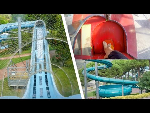Water Slides at Water World Lloret de Mar, Spain (GoPro)