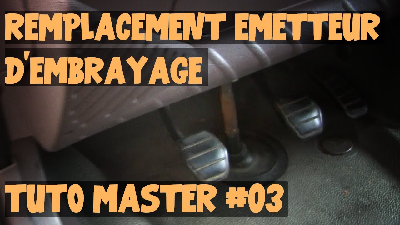 Tuto Master 03 Remplacement Emetteur D Embrayage Youtube