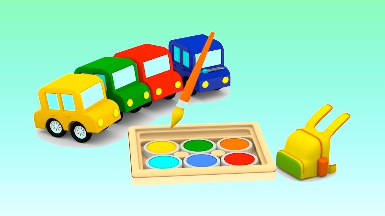 Car School Cartoon Cars Videos For Kids Cartoons For Children