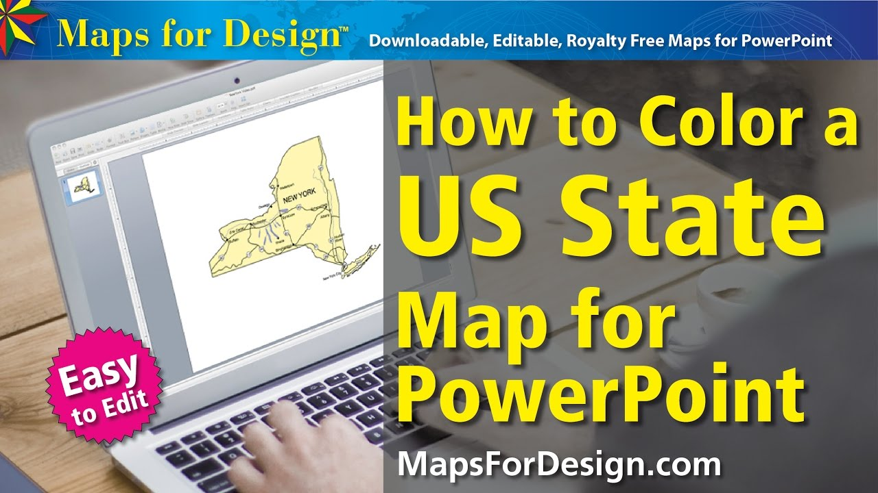 How to Color a USA State Map for Making Sales Territory Maps