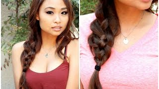 Messy 4 Strand Braid Tutorial Thumbnail