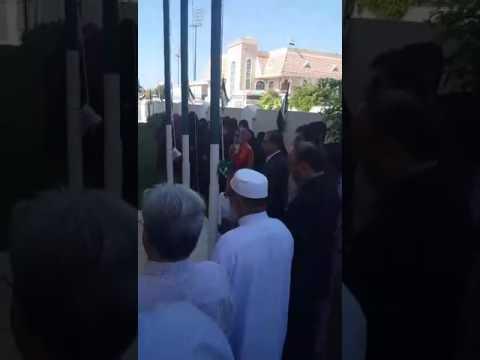Observe one minute of silent prayer  in honor of the UAE  heroes n Rise UAE national Flag At  PAd