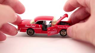 Coca Cola 1955 Chevrolet Bel Air toy car review (M2 Machines) ASMR