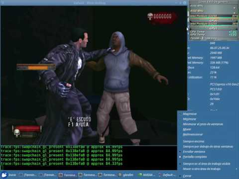 The Punisher Test 48fps NVENC x64 + Sound (Pentium G3258) con el Wine 2.12 + Nvidia 384.47