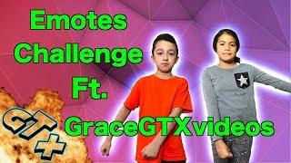 Fortnite Dance Challenge Ft. GraceGTXvideos . Fortnite Emotes in real live