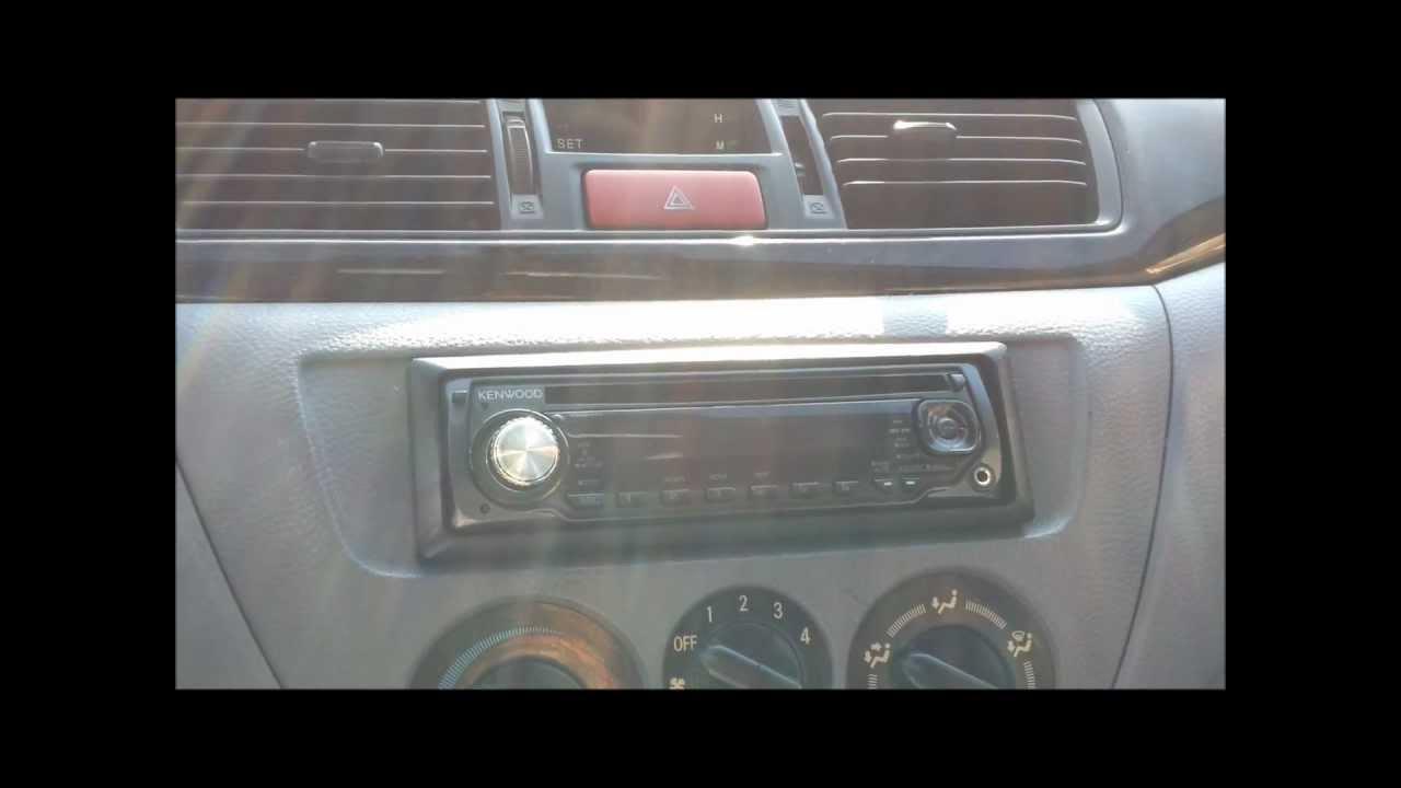 2002 mitsubishi lancer stereo install  YouTube