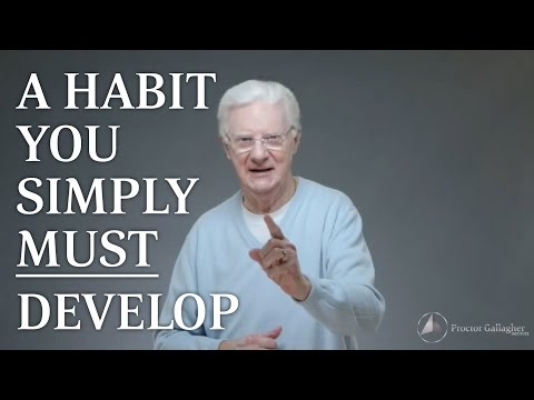 A Habit You Simply MUST Develop
