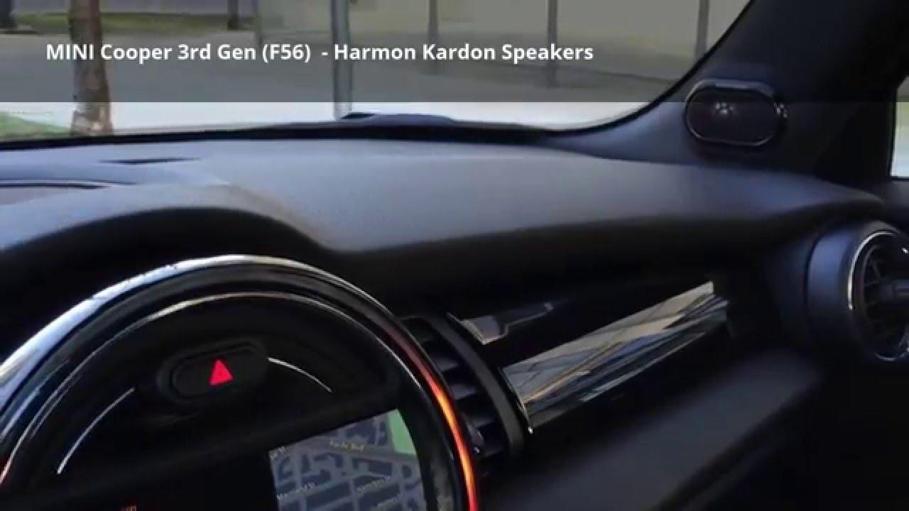 mini cooper harman kardon speakers latest model f56. Black Bedroom Furniture Sets. Home Design Ideas