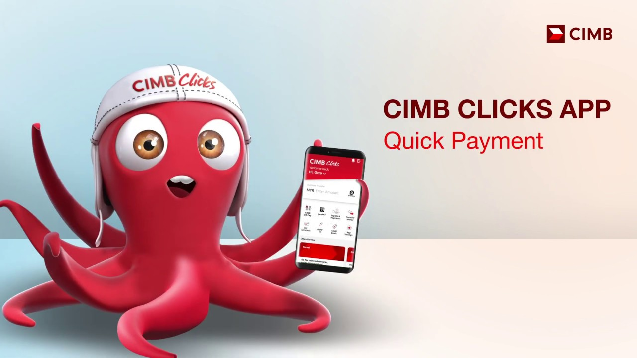 Quick Payment With The All New Cimb Clicks Mobile App Youtube