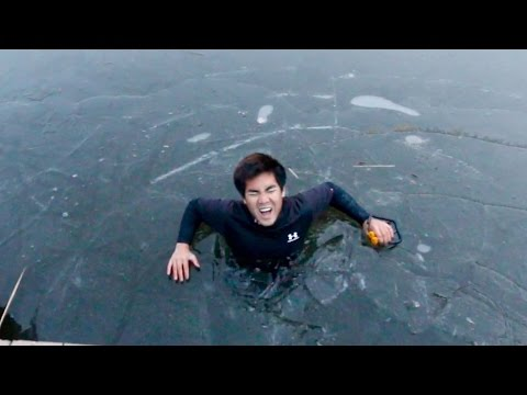 I FELL THROUGH THE ICE WHILE FISHING!!!