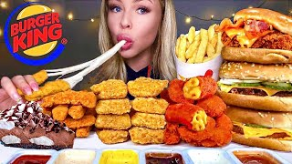 ASMR MOST POPULAR FOOD AT BURGER KING BIG WHOPPER, MAC N CHEESE BITES, CHICKEN SANDWICH, MUKBANG 먹방