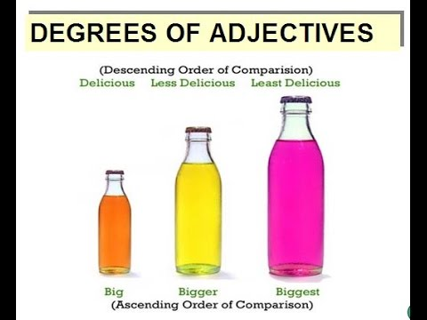 degrees of comparison of adjectives worksheets pdf